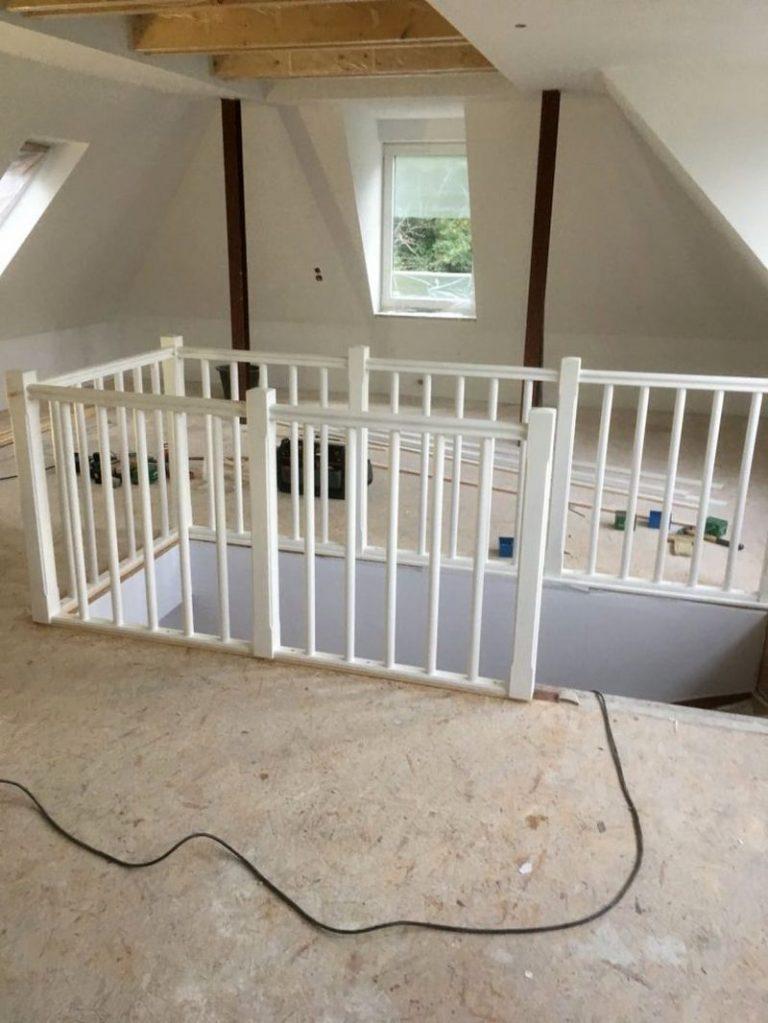Dachbodenausbau-Treppe
