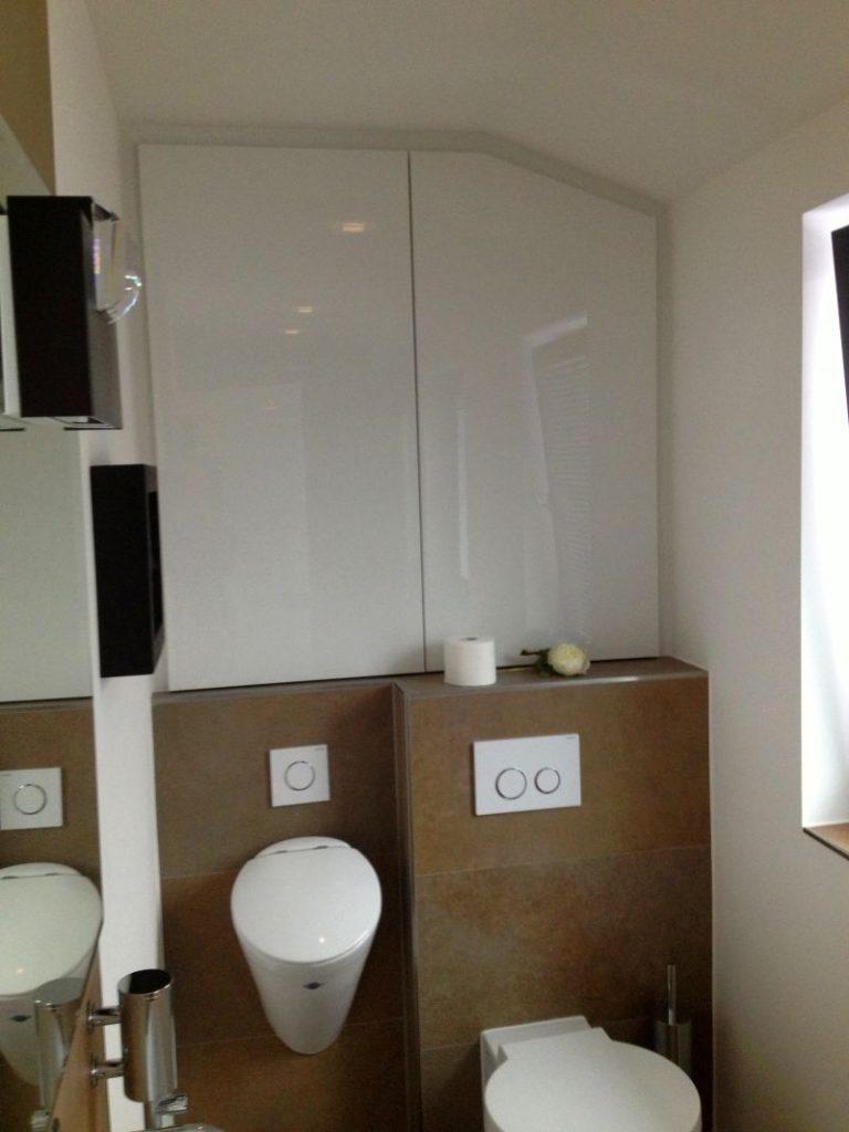 Toilette Hängeschrank